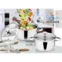 Induction Friendly Stainless Steel Casserole Set Of 2 Pcs