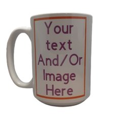 Logo Ceramic Mug Printing Service, For Promotion