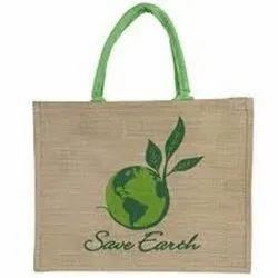 Printed Jute Drawstring Bag
