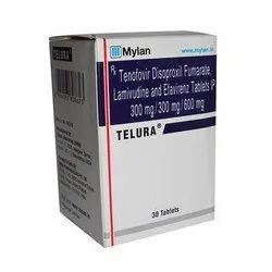 Telura Tablet(Lamivudine (300mg) + Tenofovir Disoproxil Fumarate (300mg) + Efavirenz (600mg)