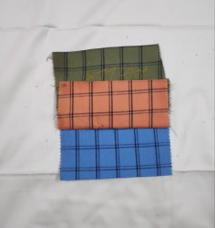 Cotton Indigo Check Fabrics, Check/stripes, Multicolour