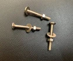 Stainless Steel Carriage Bolt, For Automobiles, Material Grade: SS202
