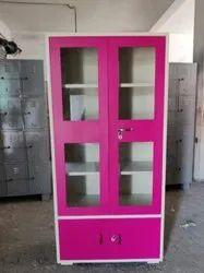 Glass Door And Steel Door Storage Cupboard