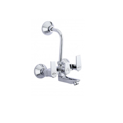 Benelave Three Handle L Bend Wall Mixer, For Bathroom Fitting, Size: 15mm