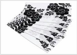 PVC  FRIDGE MAT WITH BLACK FLOWER PRINT