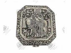 Radha Krishna Silver Plated Artifacts