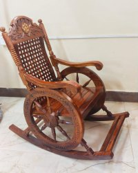 Teak Wooden Rocking Chair