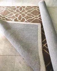 Brown-Cream Hand Tufted Woolen Carpets, Brown-Cream, Size: 5x8