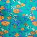 Polyester Sunflower Print Fabric, Printed, 6 Mix Colours
