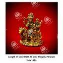 Golden Shiv Parvati God Statue