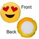 Sublimation Smiley Round Cushion