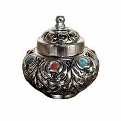 SIlver Plated Metal Jewellery Box For Corporate Gift