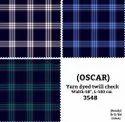 Oscar Yarn Dyed Twill Check Shirting Fabric