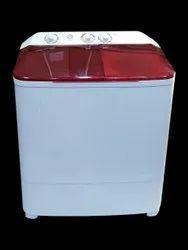 Livya Top Loading 8Kg Semi Automatic Washing Machine, White And Maroon
