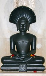 Black Stone Parshwnath Statue