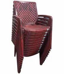Maroon Plastic Chair