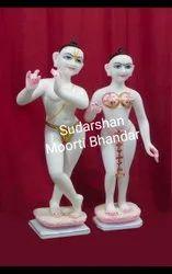 Marble Isckon Radha Krishna Statue