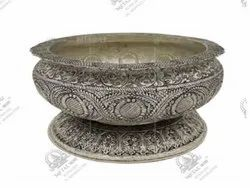 5 Liters Round Silver Plated Artifacts