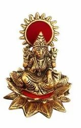 Gold Plated Kamal Laxmi Statue For Puja Purpose & Corporate Gift