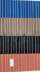 Pure Cotton Handloom Stripes Fabrics, Check/Stripes, Set Of 4 Colors