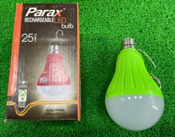 Round Cool White Parax Rechargeable LED Bulb, B22, 25W
