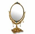 Metal Gold Plated Table Mirror For Home Decoration & Corporate Gift