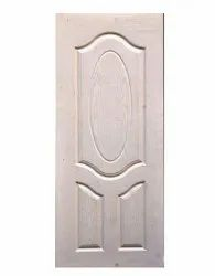 Polished Wooden White Panel Door, Rectangular, Size/Dimension: 7 X 3.5 Ft