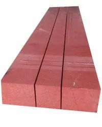 Polished Rectangular Red Granite Stone, For Flooring, Thickness: 200mm