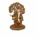 Gold Plated Radha Krishna Idol For Decoration & Corporate Gift