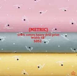 Metric 100% Cotton Heavy Drill Print Shirting Fabric