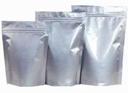 Silver standy zipper pouch