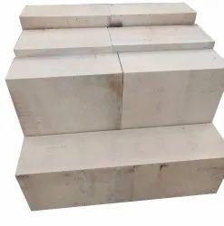 Rectangular Gray Electocast Block Refractory Bricks, For Floor, Size: 12x4x2inch
