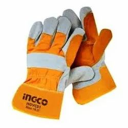HGVC01 Heat Resistant Natural Cow Split Leather Safety Gloves
