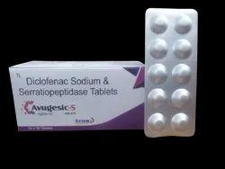 AVUGESIC-S Diclofenac Potassium 50mg+Serratiopeptidase10mg 10X10