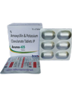 AVUNOX-625 Amoxycillin 500mg+Potassium Clavulanate 125mg  1X10X6