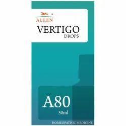 Allen Homeopathy A80 Vertigo Drops, Packaging Type: Plastic Bottle