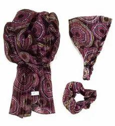 Printed Matching headband &Scarves