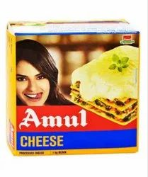Milk Amul Processed Cheese Block 1 Kg, For Restaurant, Packaging Type: Box