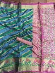 Surat 5.5 Cotton Saree With Zari Borders