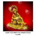 Worship Metal Kala Ganesha ji God Statue