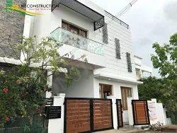 Modular White Residential Building Construction, In Madurai