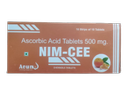 Nim-cee Vitamin -c- 500mg Tab (aluminium Strip ) 10x10