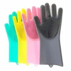 Silicone Dish Washing Gloves.