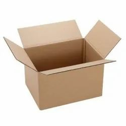Brown Rectangular Heavy Duty Industrial Corrugated Boxe