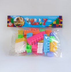 Zipper Multicolor Building Block Toy . Small Pouch, For Playing