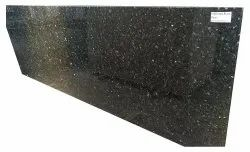 Black Pearl Imported Granite Slab, For Flooring, Thickness: 15 mm