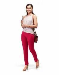 Cotton Straight Fit Lux Lyra Kurti Pant, Size: Free Size