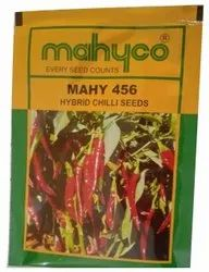 Red Mahyco Mahy-456 Hybrid Chilli Seed, Packaging Type: Packet, Packaging Size: 10gm