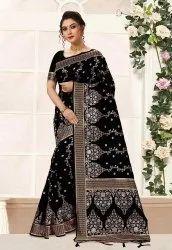 6.3 M (with Blouse Piece) Nivah Fashion Banarasi Art Silk Saree