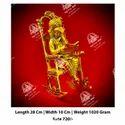 Metal Kala Ganesh ji Chair God Statue